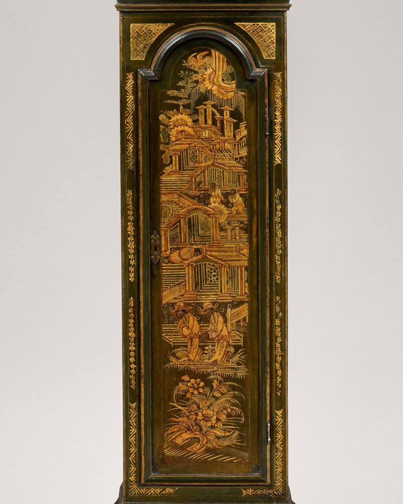 YATES THORNTON, ROMFORD  An early George III period chinoiserie decorated longcase clock.