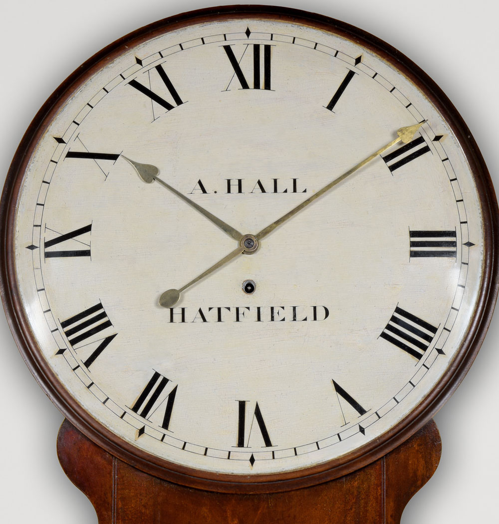 A. HALL. A fine George III period mahogany tavern clock.