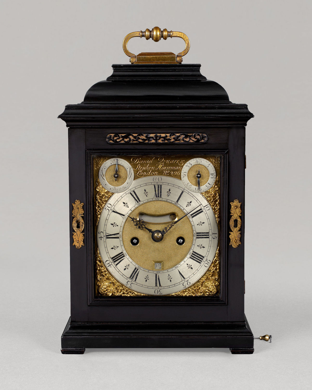DANIEL QUARE & STEPHEN HORSEMAN, N° 226. A GEORGE I PERIOD QUARTER-REPEATING SPRING TABLE CLOCK BY ONE OF THE MOST CELEBRATED PARTNERSHIPS OF THE EARLY EIGHTEENTH CENTURY.