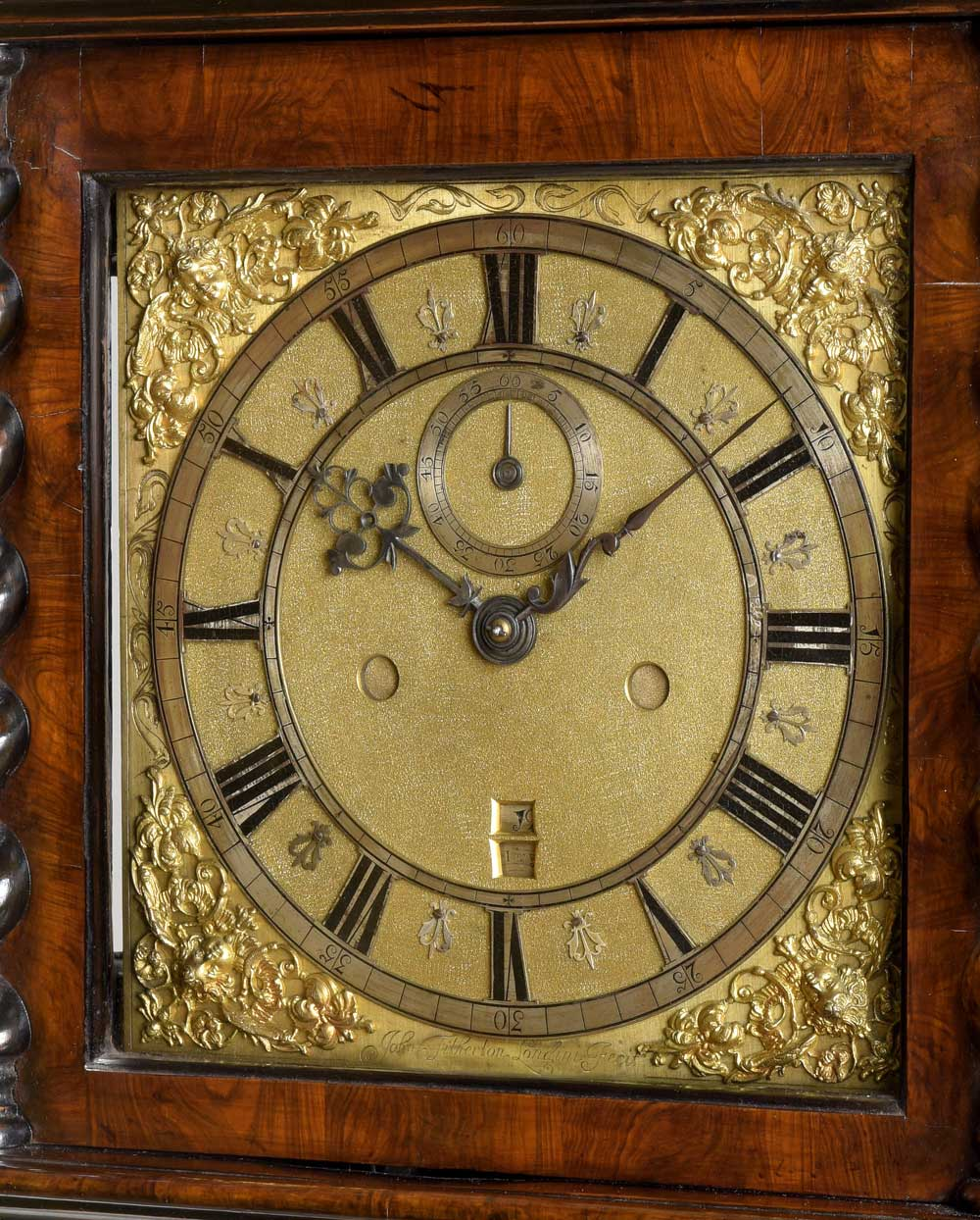JOHN TITHERTON  LONDINI FECIT. A rare Charles II period olivewood and parquetry longcase clock.